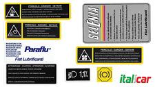 FIAT BARCHETTA Mk1 1996 - 2002 Engine Bay Decals / Stickers / Labels