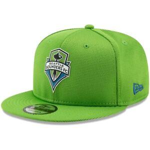 NEW ERA SEATTLE SOUNDERS FC SOCCER MLS SNAPBACK CAP 950 ADJUSTABLE HAT GREEN NEW