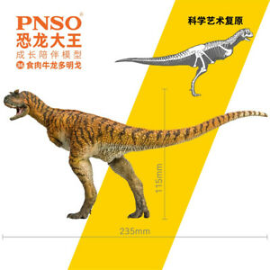 PNSO Carnotaurus Model Domingo Ceratosauria Dinosaur Animal Collector Decor Gift