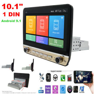 """10.1"""" 1 DIN Android 9.1 Car Stereo MP5 Radio GPS Navigation Wifi 1+16GB Player"""