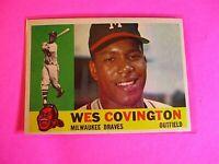1960 TOPPS baseball Set Break #158 Wes Covington Braves, NmMt High Grade