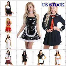 Sexy Women Naughty School Girl Maid Nurse Cheerleader Fancy Dress Cosplay Outfit