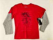 Northpoint Girls Print Long Sleeve Horse Sketch Red Shirt 16