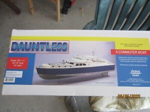 "Dumas Dauntless Commuter Boat, 49-1/2"" Long x 14' wide. 3/4""=1ft scale"