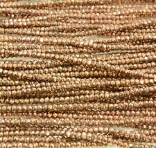 3x2MM Bronze Hematite Gemstone Micro Faceted Rondelle 15.5 inch (80007527-A263)