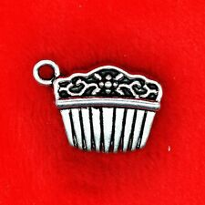 5 x Tibetan Silver Vintage Hair Comb Charm Pendant Finding Beads Jewelry Making