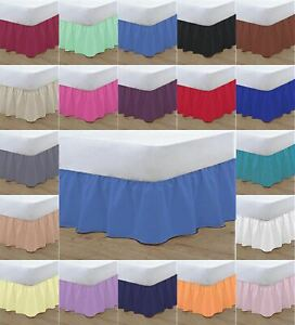 "New 16"" Frilled Base Valance Sheets Polycotton Bed sheet Or Pillow Case"
