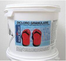 Dicloro Granulare Cloro Shock Piscina 1/5/10/25 Kg Trattamento Shock Manteniment