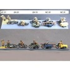 SGTS MESS NC31 1/72 Diecast WWII BSA Cycle w/Side Car AA Rider+AA Man Saluting