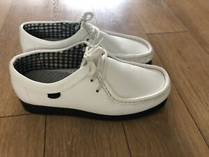 Mens Base London White Loafer Casual Leather Lace Up Shoes UK Size6.5 EUR 40