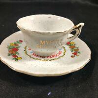 Vintage Porcelain Mini Teacup Pitcher Myrtle Beach SC Souvenir