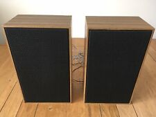 Pair Of Vintage 1970's Wooden Hi-Fi Speakers Mid Century Modern (34 x 20cm)