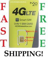 H20 H2O WIRELESS NANO SIM CARD / UNLIMITED AT&T NETWORK FITS i-6