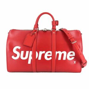 LOUIS VUITTON Supreme Epi Keepall Bandouliere 45 Luggage Red M53419 90104107