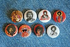 Jimi Hendrix Band Buttons Pins Music 1 Inch Badge Lot pinback Hat guitar Jimmy