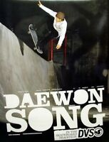 DVS 2006 skateboard Daewon Song 2 sided promo poster Flawless NEW old stock