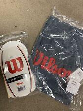 Pro Overgrip, White - 30 Pack Plus Free Wilson T-shirt Sz Small