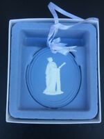 2013 Wedgwood White and Blue Oval Muse Christmas Ornament