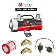 FACET SILVER TOP FUEL PUMP BOX SET + 8mm UNIONS + FILTER + EARTH MOUNTING KIT