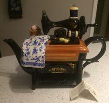 Paul Cardew 'Infusion' Sewing Machine Large Ceramic Vintage Teapot LTD EDITION