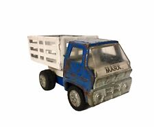 ⭐⭐⭐ 1960's VINTAGE MARX TOY TRUCK -White Bed Fenced Dump Bed Farm Truck ⭐⭐⭐