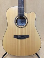 Martin Klema K100DS-CE Solid Spruce Top Acoustic Guitar,Fishman EQ, Natural Matt