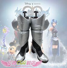 Kingdom Hearts Birth by Sleep Aqua Long Cosplay Shoes Boots C006
