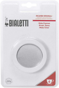 Bialetti Replacement Gasket & Filter for 6 Cup Espresso Maker
