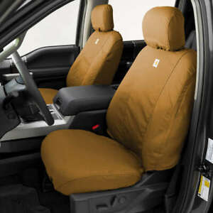 Covercraft Carhartt Brown Front Row Bucket Seat Covers for 16-20 Toyota Sequoia