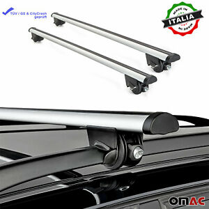 Roof Rack Cross Bars Luggage Carrier Silver Fits Toyota Land Cruiser 2003-2021