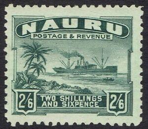 NAURU 1924 SHIP 2/6 ROUGH PAPER