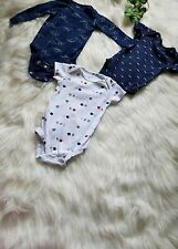 Lot of 3 Carter's 6 month old toddler baby boy one piece snap up