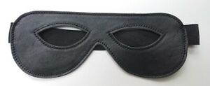 """Brand New 100% Real Leather Deluxe 8 1/2"""" Wide Open Eyes Mask"""