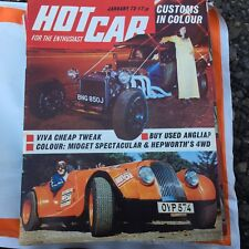 VINTAGE HOTCAR HOT CAR MAGAZINE JANUARY 1972 ANGLIA MIDGET SPECTACULAR