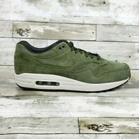 Nike Air Max 1 Premium Suede Olive Green White 875844-301 Mens Sizes