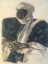 Très Belle lithographie Alexandre Iacovleff Représentant Mohamed Saleh Début Xx