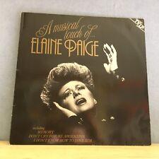 ELAINE PAIGE A musical touch of...  - 1984 Dutch vinyl LP EXCELLENT CONDITION