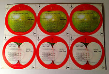 "Mint Original The Beatles USA Apple labels for ""1962-1966 LP""  (no record)"