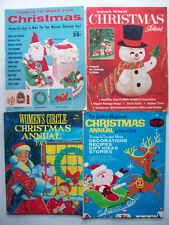 4 Vintage Christmas Craft magazines