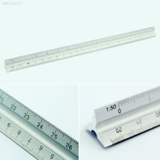 B216 30CM Aluminum Three Square Metal Triangle Tri-Scale Architect Engineers Sch
