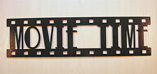 Movie Time, New Metal Wall Art, Home Theater Decor, Contemporary Movie Sign