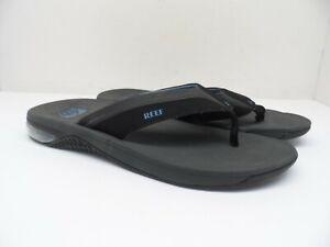 Reef Men's Anchor Flip Flop Sandal Gray/Black/Blue Size 12M