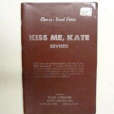 Coro-parti vocali KISS ME Kate, revised, Cole Porter