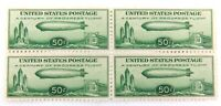 SCARCE !! SCOTTS #C18 1933 ZEPPELIN 50c MH BLOCK OF 4.