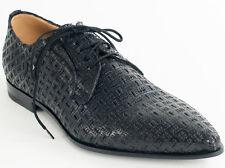 New  Cesare Paciotti Lace Up  Black Leather Shoes UK 7.5 US 8.5 Retail $ 660