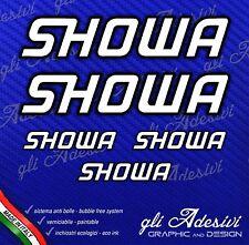 5 Adesivi HRC SHOWA Moto GpBianco bordo Nero