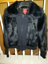 Red Saks Fifth Avenue - Navy Blue Faux Fur (Size 4)