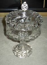 Antique Glass Compote Dish with Lid Perfect Condition - Gorgeous!!