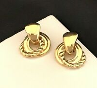 Vintage Givenchy Earrings Gold Tone Knocker Style Pierced New 6X