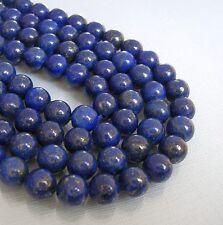 Genuine High Quality Afgan Lapis Lazuli Beads Semiprecious Gemstone 8mm.
